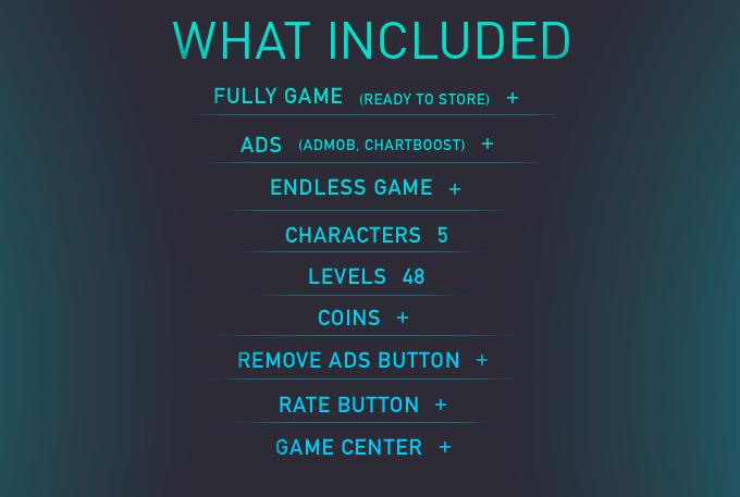 Crazy Cube (IOS) Fun Arcade Game Template + easy to reskine + AdMob - 4
